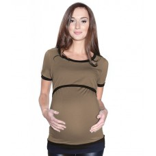 Tehotenské a materské tričko so spodným lemom