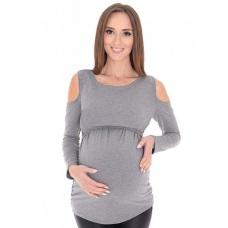 Tehotenské a materské tričko s dlhým rukávom