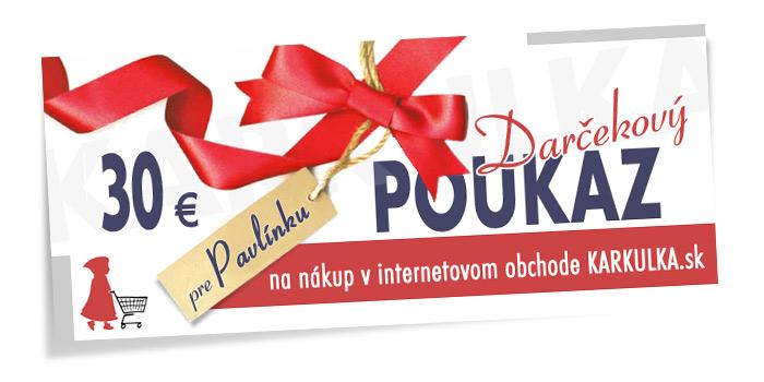 Darčekový poukaz KARKULKA.sk